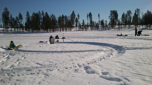ice fishing in nattavaara